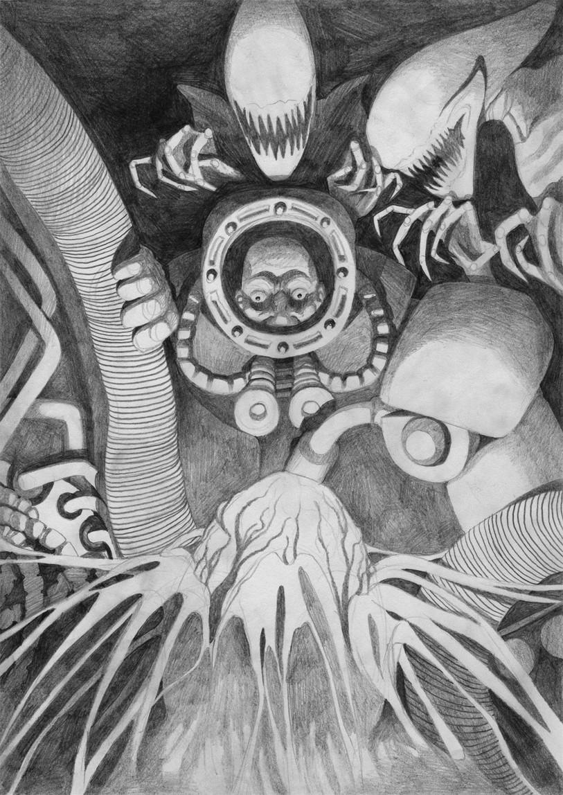 Giger tribute drawing